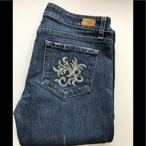 PAIGE Laurel Canyon Embroidered Jeans 30